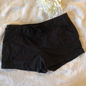 Black Cargo Short Shorts